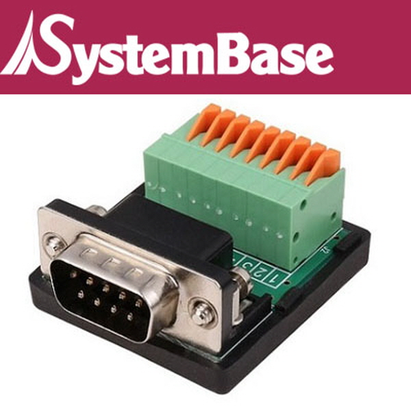 SystemBase(시스템베이스) DB9 Male to Terminal Block(터미널 블록)