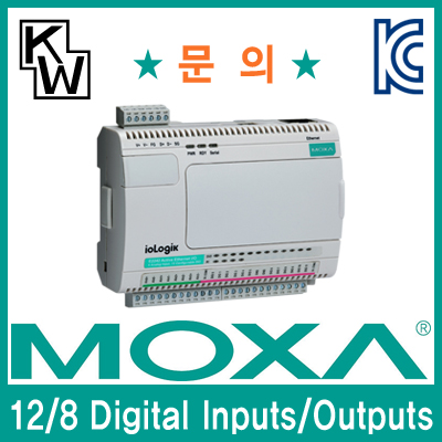 MOXA(모싸) ioLogik E2210 원격 I/O 제어기(12 Digital Inputs, 8 Digital Outputs)