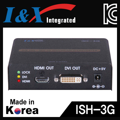 I&X(아이앤엑스) ISH-3G HD-SDI to HDMI/DVI + HD-SDI 컨버터
