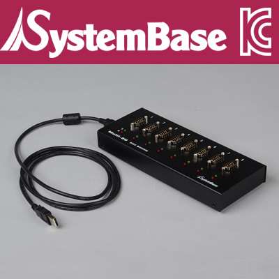 SystemBase(시스템베이스) 8포트 USB 시리얼통신 어댑터, RS232 컨버터 Male