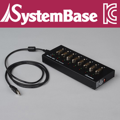 SystemBase(시스템베이스) 8포트 USB 시리얼통신 어댑터, RS422/RS485 컨버터 Female