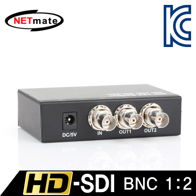 NETmate NM-SDS12 HD-SDI 지원 BNC 1:2 분배기