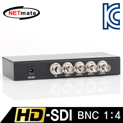 NETmate NM-SDS14 HD-SDI 지원 BNC 1:4 분배기