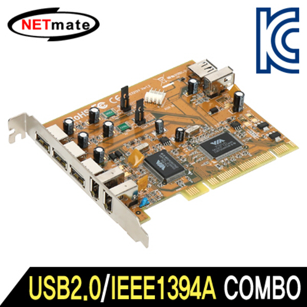 NETmate NMU-COMBO USB2.0/IEEE1394A COMBO PCI 카드(VIA)