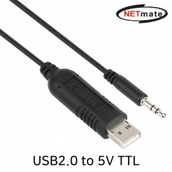 NETmate KW-998 USB2.0 to 5V TTL(Audio plug) 컨버터(FTDI / 1.8m)