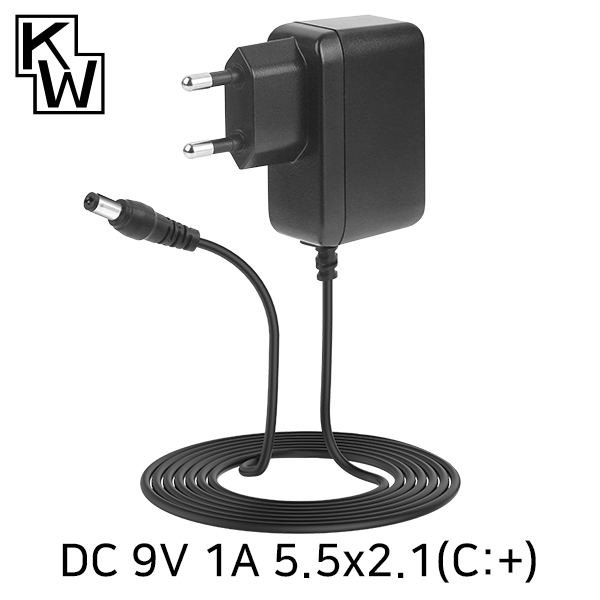 KW KW-A9010A(SK21G-0900100K) 9V 1A SMPS 아답터(5.5x2.1mm/C:+)