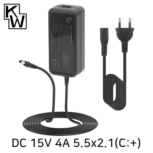 KW KW-A1540A(SK06T-1500400W2) 15V 4A SMPS 아답터(5.5x2.1mm/C:+)