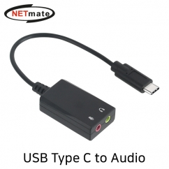 NETmate NM-TCS01 USB2.0 Type C to Audio 컨버터