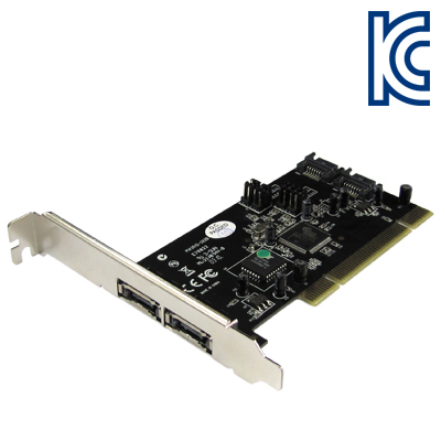 NETmate 2포트 PCI SATA(ESATA) 카드(SI)(슬림PC겸용) New [FQ93]-아이씨뱅큐