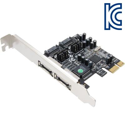 NETmate SATA2(eSATA) 2포트 PCI Express 카드(SI) [GH43]-아이씨뱅큐