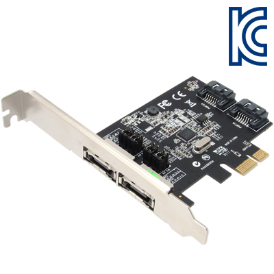 NETmate SATA3(eSATA) 2포트 PCI Express 카드(Asmedia)(슬림PC겸용) [GC57]-아이씨뱅큐