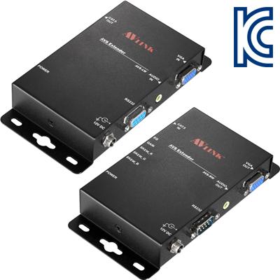 NETmate VGA+Audio+RS232 1:1 벽걸이형 리피터(로컬 + 리모트)(300m) [GH22]-아이씨뱅큐
