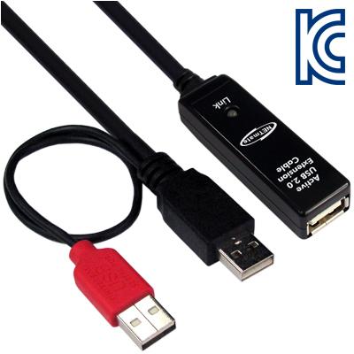 NETmate USB2.0 무전원 리피터 New 20m [FT10]