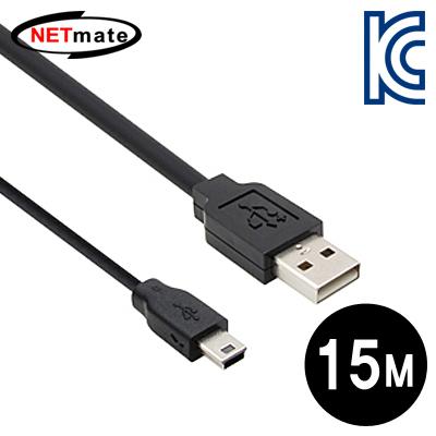 NETmate USB2.0 AM-Mini 5P 리피터 15m [FP04]