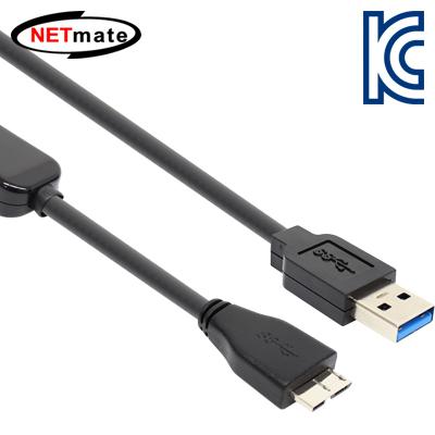 NETmate USB3.0 AM-MicroB 리피터 10m. [FT42]-아이씨뱅큐