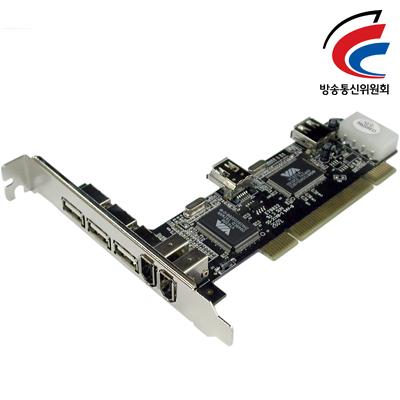 NETmate F-114 USB2.0/IEEE1394A COMBO PCI 카드(VIA) [FQ69]-아이씨뱅큐