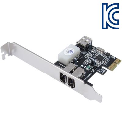 NETmate IEEE1394A 2+1포트 PCI Express 카드(VIA)(슬림PC겸용) [FS37]-아이씨뱅큐