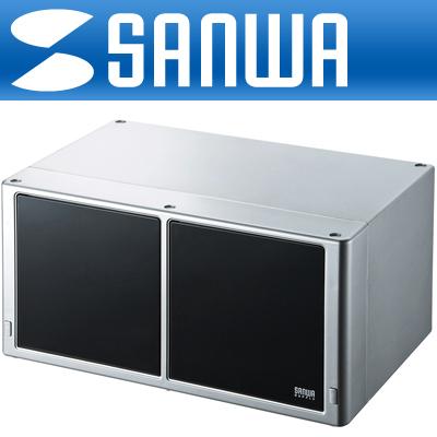 SANWA 고급 서랍형 CD/DVD 보관함(160매/실버) [DK20]-아이씨뱅큐