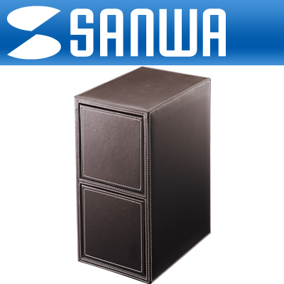 SANWA 고급 2단 서랍형 CD/DVD 보관함(200매/브라운) [GL]-아이씨뱅큐