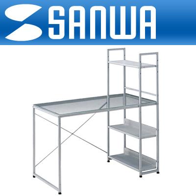 SANWA H형 강화유리 컴퓨터 책상 [GL]-아이씨뱅큐