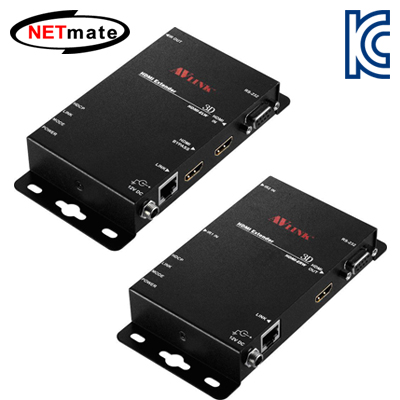 NETmate HDMI+RS232 1:1 리피터(로컬 + 리모트)(100m)(IR 컨트롤) [GH31]-아이씨뱅큐