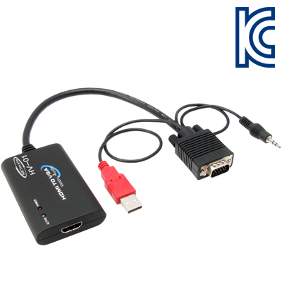 NETmate HDMI to VGA(RGB)+Stereo 컨버터(케이블 타입) [AF21]-아이씨뱅큐
