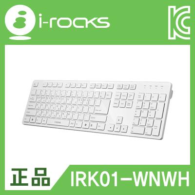 아이락스 IRK01-WNWH X-Slim USB 유선 키보드(화이트) [DG18]-아이씨뱅큐