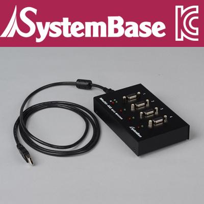 SystemBase(시스템베이스) 4포트 USB 시리얼통신 어댑터, RS232 컨버터(V1.7) [F600]-아이씨뱅큐