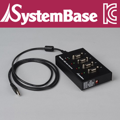 SystemBase(시스템베이스) USB2.0 to 4포트 RS422/485 컨버터 COMBO (V1.7) [G102]