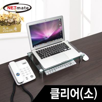 NETmate 다용도 강화유리 받침대(클리어/소) [GP15]