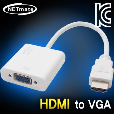 NETmate HDMI to VGA(RGB) 컨버터(케이블 타입) [A113]-아이씨뱅큐
