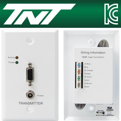 TNT 월 플레이트 VGA 1:1 리피터(110 IDC)(300m) [BA48]-아이씨뱅큐