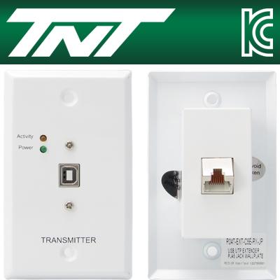 TNT 월 플레이트 USB BF-AF 리피터(RJ-45)(45m) [BA16]-아이씨뱅큐