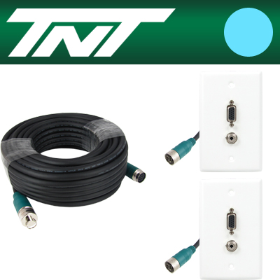 TNT RGB+스테레오 월 플레이트 분리형(배관용) 케이블 40m [BC18]-아이씨뱅큐