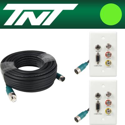 TNT RGB+스테레오 or 3RCA 월 플레이트 분리형(배관용) 케이블 40m [BC18]-아이씨뱅큐