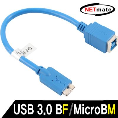 NETmate USB3.0 BF/MicroB 케이블 젠더 0.15m [FV54]