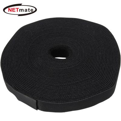 NETmate 롤타입 벨크로 케이블 타이 9.1m (블랙) [GG47]
