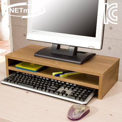 NETmate 2단 모니터 받침대 (엔틱) [GP00]