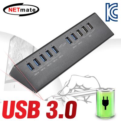 NETmate USB3.0 10포트 유전원 충전 허브(12V5A 전원 아답터 포함). [GK04]-아이씨뱅큐