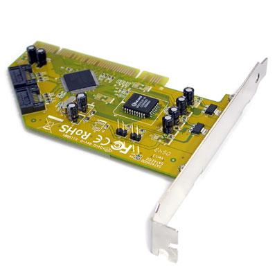 NETmate 2포트 PCI SATA 카드(INITIO) [FQ94 , FQ95]
