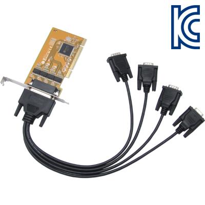 NETmate 4포트 PCI 시리얼카드(SUN)(슬림PC겸용) [GH63]
